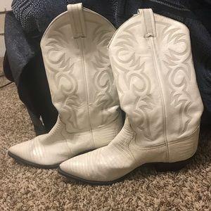 Vintage White Cowboy Boots